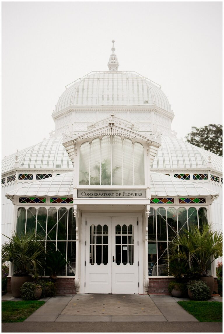 Wedding at the Conservatory of Flowers